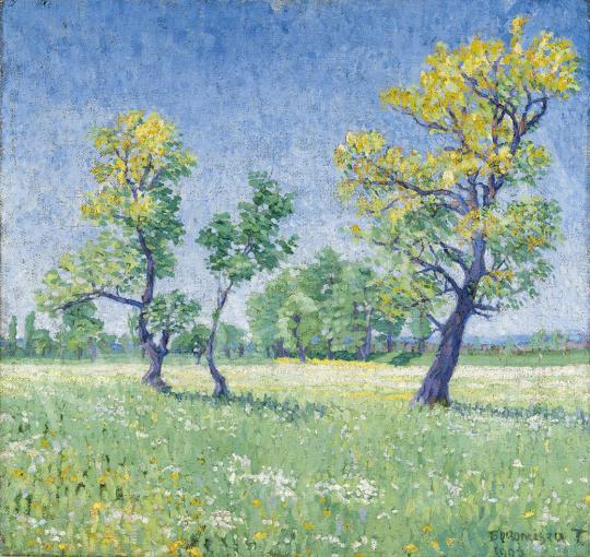 Boromisza Tibor - Tavaszi virágzás, 1907 festménye