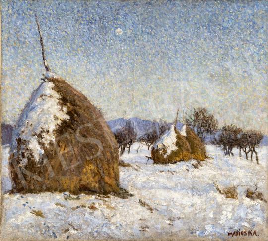 Maticska Jenő - Napsütéses téli nap Nagybányán (Klastromrét télen), 1903 festménye