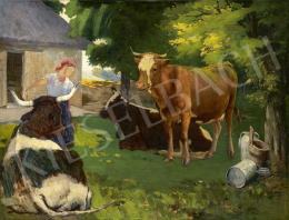 Vaszary, János - In Sunny Garden (Lait Frais), c. 1894