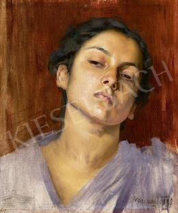 Vaszary János - Párizsi festőnő, 1895