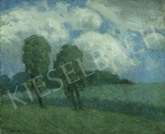 Vaszary János - Különleges fények, bárányfelhők (Borulás), 1903 festménye