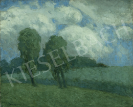 Vaszary János - Különleges fények, bárányfelhők (Borulás), 1903