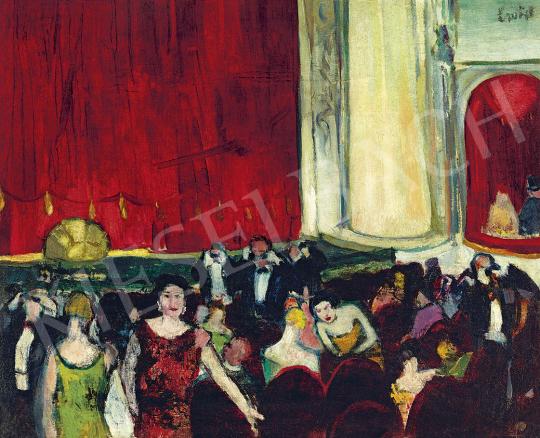 Emőd Aurél - Színházban (Párizs), 1920-as évek festménye