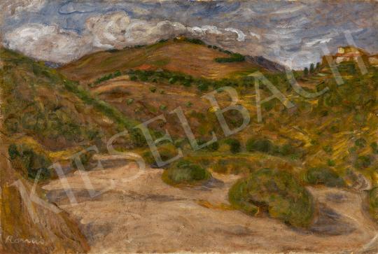 Rippl-Rónai József - Dombok a katalán határon (Banyuls-sur-Mer) festménye