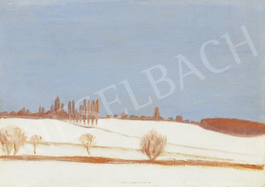 Rippl-Rónai József - Csend, téli táj (Somogyi dombok), 1900-as évek eleje festménye