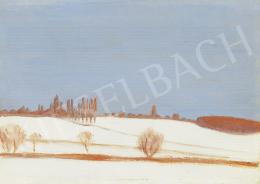 Rippl-Rónai, József - Silent, Winter Landscape (Land in Somogy), early 1900's