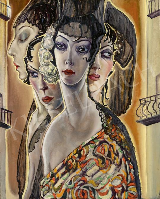 Batthyány Gyula - Spanyol nők (Sevilla), 1934 körül festménye