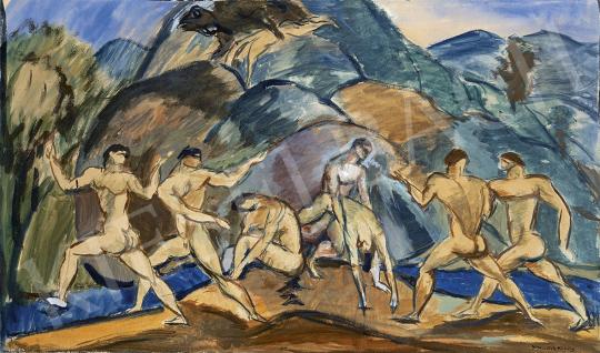 Kernstok Károly - Aranykor, 1910 körül festménye