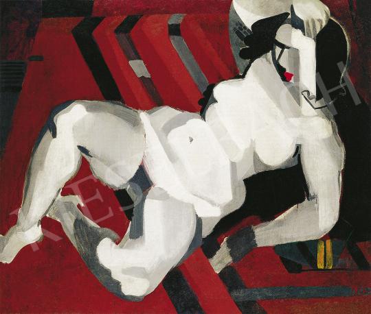Vaszkó Ödön - Art deco akt műteremben, 1930 körül festménye
