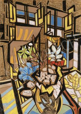 Scheiber Hugó - Síkok – ablakok – fények (Virágok a művész műtermében), 1930-as évek vége