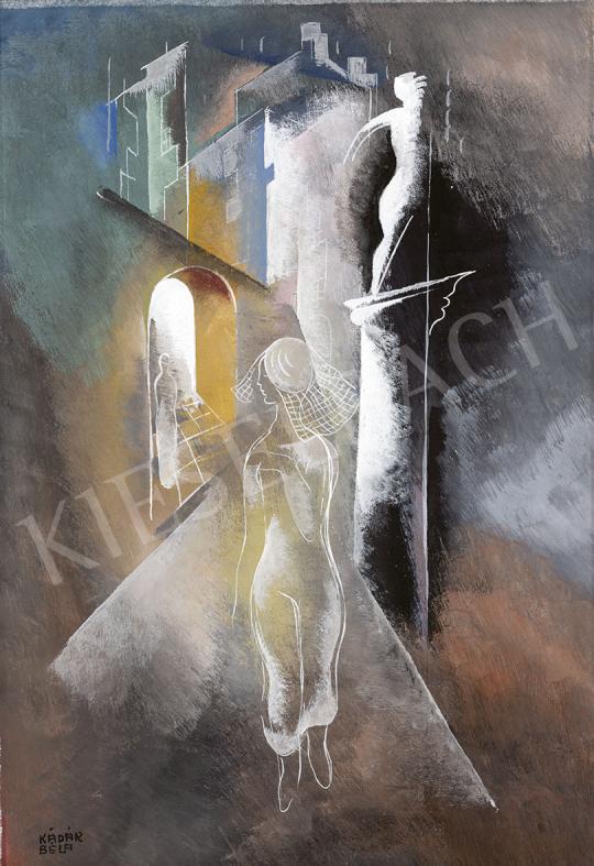 Kádár Béla - Esti séta, 1930-as évek festménye