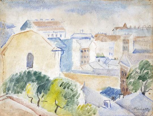 Kmetty János - Budapesti részlet, 1930-as évek festménye