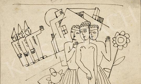 Kádár Béla - Nagyvárosi találkozás, 1920-as évek második fele festménye