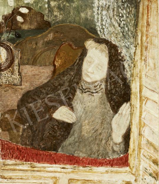 Ámos Imre - Ablakban (Múló idő), 1935 festménye