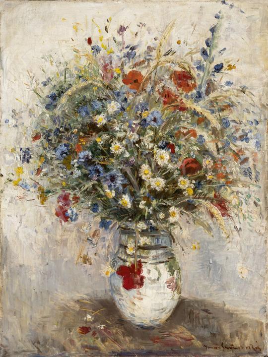Iványi Grünwald Béla - Mezei virágcsokor, 1930-as évek festménye