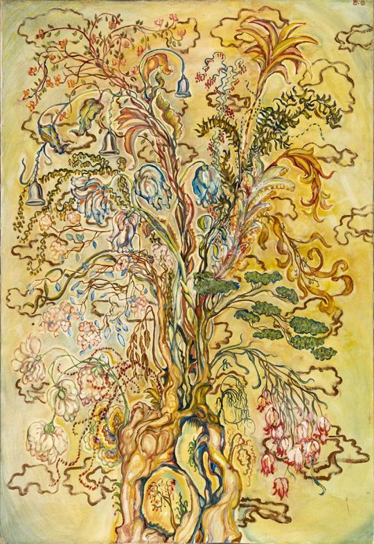 Batthyány Gyula - Virágcsendélet (Életfa) festménye