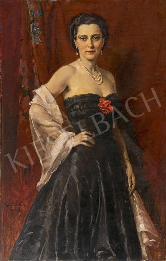 Mihalovits Miklós - A fekete estélyi, 1939 festménye