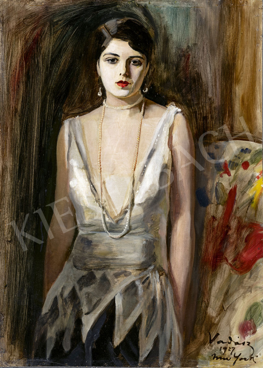 Vadász Miklós - Amerikai színésznő, 1927 festménye
