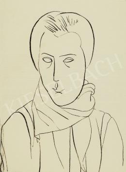 Vajda, Lajos - Head with a Scarf, c. 1934