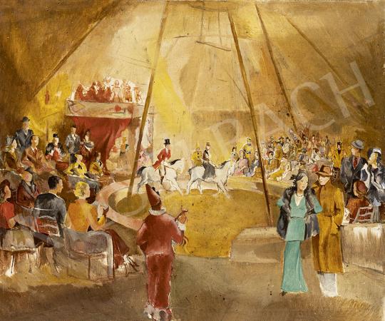 Gebhardt Béla - Cirkuszban festménye