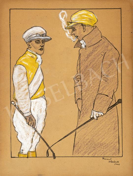 Faragó Géza (1877-1928) és Subkégel Gyula (1907-?) - Joké (Párizsi lóversenyen) festménye