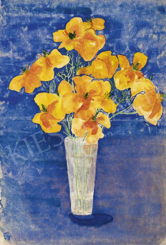 Kazovszkij, El - Mezei virágok vázában festménye