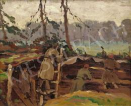 Bosznay, István - In the Trench (Bont-Hole), 1926