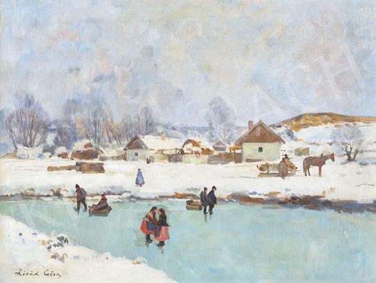 Eladó Zórád Géza - Korcsolyázó gyerekek festménye