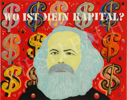 For sale  drMáriás - Where is my Capital - in Marx Warhol's Atelier, 2017 's painting