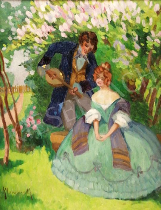Eladó Klammer Mariska - Szerelmesek a tulipánfa alatt festménye