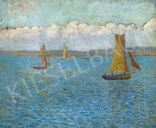 Eladó  Csejtei Joachim Ferenc - Francia tengerpart, 1910 körül festménye