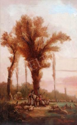 Pörge Gergely - Pásztor a nyájjal, 1893