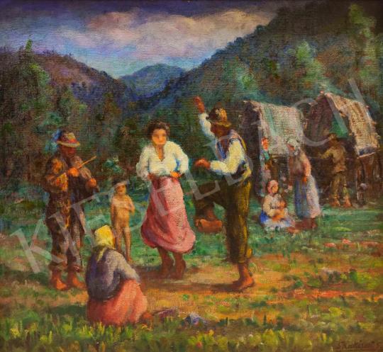Eladó  Shakirov Sebestyén - Nagybányai mulatozók festménye