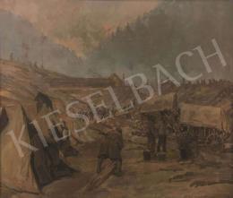 Halász-Hradil Elemér - Katonák tábora
