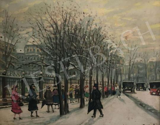Eladó  Berkes Antal - Nagyvárosi utca festménye