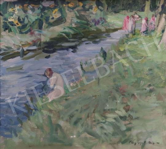For sale Fáy, Győző - Summer Day on the Runnel Bank, 1966 's painting