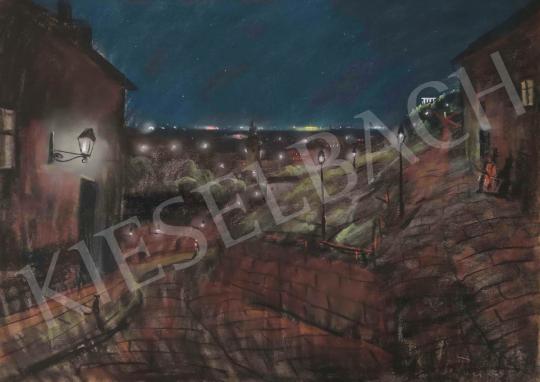 Eladó  Sztankó Gyula - Tabán éjjel festménye