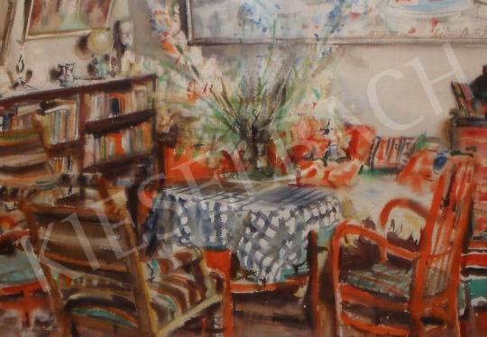 Eladó Diósy Antal - Enteriőr, 1957 festménye
