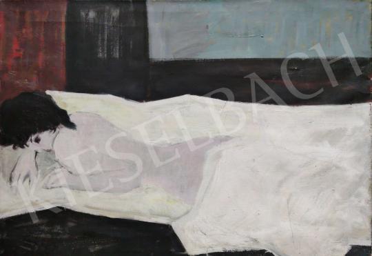 For sale  Z. Gács, György (Zartler György) - White nude 's painting