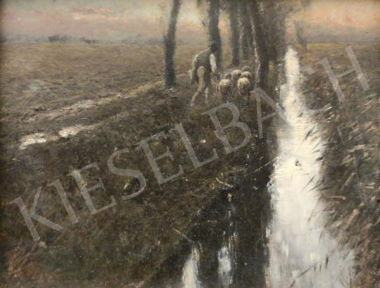For sale K. Spányi, Béla - On the Way of Home (Sunset) 's painting
