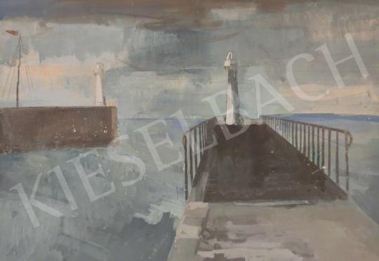 Eladó  Bernáth Aurél - Francia tengerpart festménye