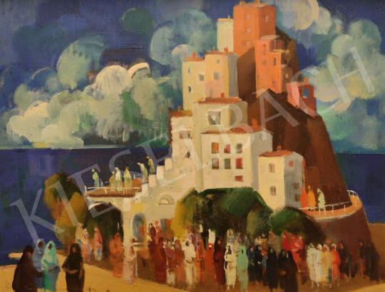 Eladó  Pleidell János - Olasz táj festménye