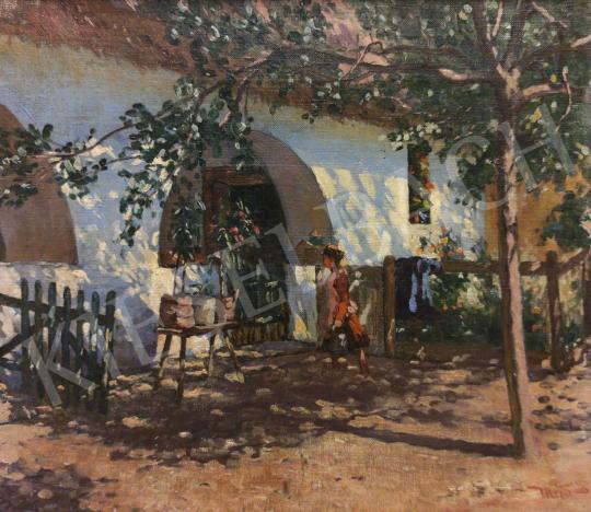 Eladó Mérő István - Árnyas udvarban festménye