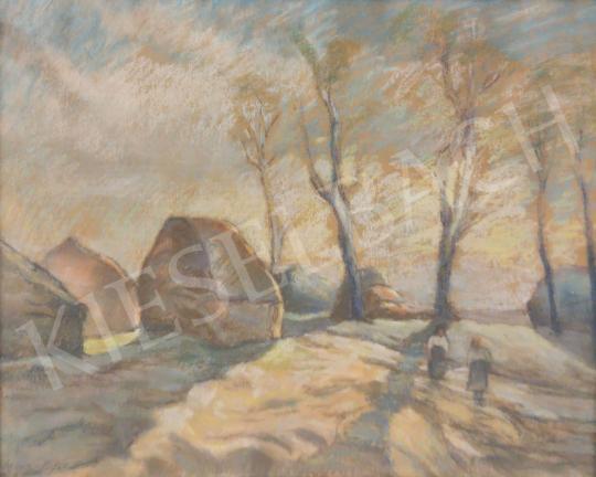 Eladó Szigeti Jenő - Beszélgetők festménye