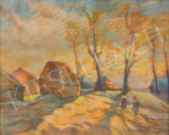 Szigeti Jenő - Beszélgetők festménye