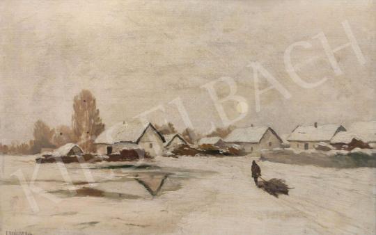 Eladó Erdőssy Béla - Téli tanyavilág festménye
