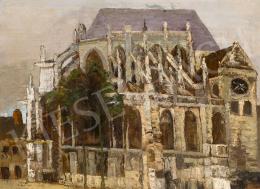 Orbán Dezső - Francia katedrális (Beauvais), 1923