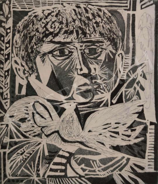 Eladó Kass János - Békegalamb, 1974 festménye