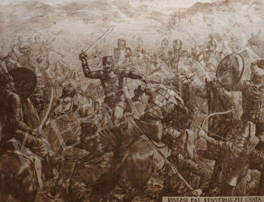 Eladó Budai Tibor - Kinizsi Pál, kenyérmezei csata festménye