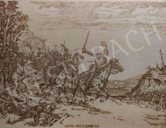 Eladó Budai Tibor - Mátyás fekete serege 1474 festménye